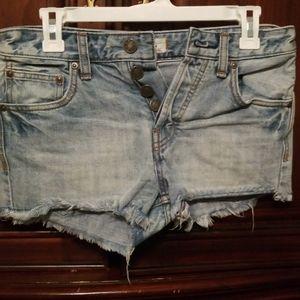 Free people short jean shorts